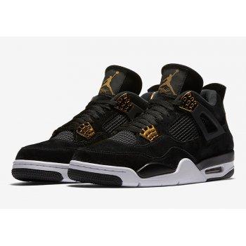Παπούτσια Ψηλά Sneakers Nike Air Jordan 4 Royalty Black/Metallic Gold-White