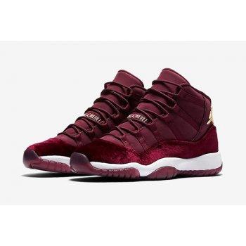 Παπούτσια Ψηλά Sneakers Nike Air Jordan XI Heiress Velvet Night Maroon/Metallic Gold-Night Maroon