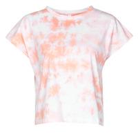 Υφασμάτινα Γυναίκα T-shirt με κοντά μανίκια Yurban ONILA Άσπρο / Ροζ