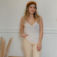 Υφασμάτινα Γυναίκα Αμάνικα / T-shirts χωρίς μανίκια Céleste INSEPARABLE Ecru