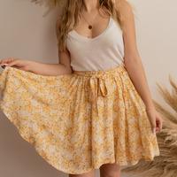 Υφασμάτινα Γυναίκα Φούστες Céleste EGLANTINE Yellow / Άσπρο