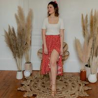 Υφασμάτινα Γυναίκα Φούστες Céleste TOURTERELLE Red / Multicolour