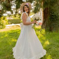 Υφασμάτινα Γυναίκα Μακριά Φορέματα Céleste AURORE Άσπρο