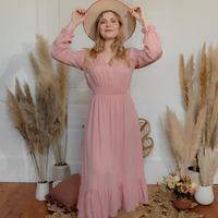 Υφασμάτινα Γυναίκα Μακριά Φορέματα Céleste COLOMBE Ροζ