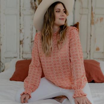Υφασμάτινα Γυναίκα Μπλούζες Céleste HIRONDELLE Ροζ