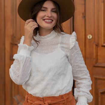 Υφασμάτινα Γυναίκα Μπλούζες Céleste HIRONDELLE Άσπρο