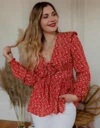 Υφασμάτινα Γυναίκα Μπλούζες Céleste ROSSIGNOL Red / Multicolour
