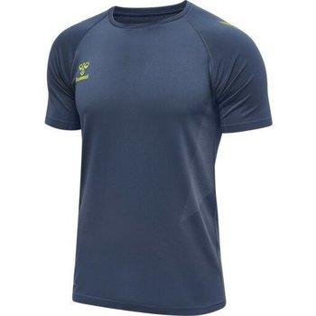 Υφασμάτινα Άνδρας T-shirt με κοντά μανίκια Hummel Maillot d'entrainement bleu/jaune