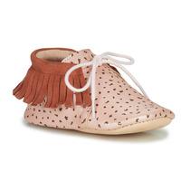 Παπούτσια Κορίτσι Παντόφλες Easy Peasy MEXIMOO Mou / Ροζ / Baba-impr / Bete / Mou / Δέρμα
