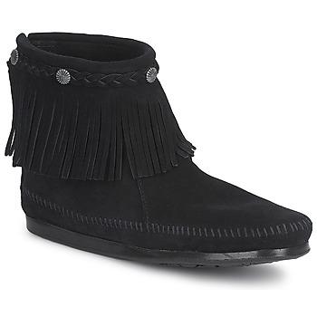 Παπούτσια Γυναίκα Μπότες Minnetonka HI TOP BACK ZIP BOOT Black