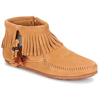 Παπούτσια Γυναίκα Μπότες Minnetonka CONCHO FEATHER SIDE ZIP BOOT Camel