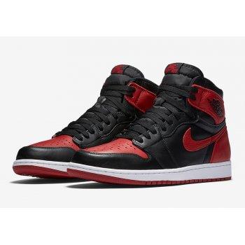 Παπούτσια Ψηλά Sneakers Nike Air Jordan 1 High Bred Banned Black/Varsity Red-White
