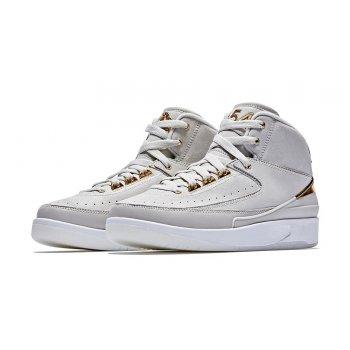 Παπούτσια Ψηλά Sneakers Nike Air Jordan 2 Quai 54 Light Bone/Metallic Gold-White