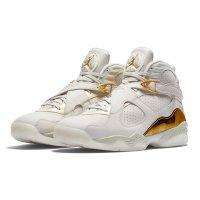 Παπούτσια Ψηλά Sneakers Nike Air Jordan 8 Confetti Champagne Light Bone/Metallic Gold–White