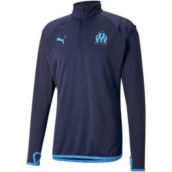 Υφασμάτινα Άνδρας Σπορ Ζακέτες Puma Sweat OM Warmup bleu foncé/bleu azur