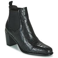 Παπούτσια Γυναίκα Μποτίνια Adige FANNY V5 CROCO NOIR Black