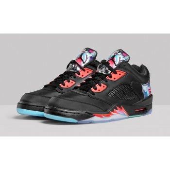 Παπούτσια Χαμηλά Sneakers Nike Air Jordan 5 Low China Black/Bright Crimson-Beta Blue-Black