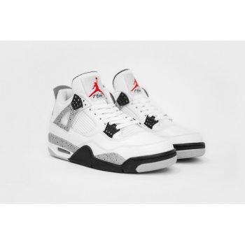 Παπούτσια Χαμηλά Sneakers Nike Air Jordan 4 White Cement White/Fire Red-Tech Grey-Black