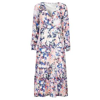 Υφασμάτινα Γυναίκα Μακριά Φορέματα Only ONLZOE Άσπρο / Multicolour