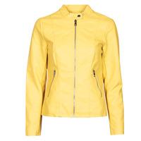 Υφασμάτινα Γυναίκα Δερμάτινο μπουφάν Only ONLMELISA Yellow