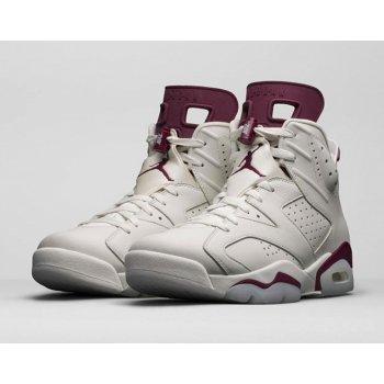 Παπούτσια Ψηλά Sneakers Nike Air Jordan 6 Maroon Off-White/New Maroon