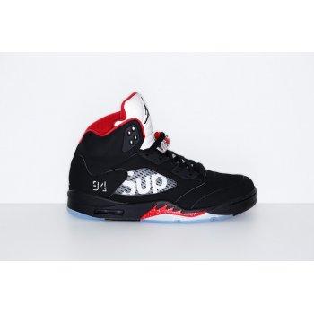 Παπούτσια Ψηλά Sneakers Nike Air Jordan 5 x Supreme Black Fire Red Black Fire Red