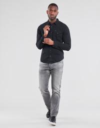 Υφασμάτινα Άνδρας Τζιν σε ίσια γραμμή G-Star Raw 3301 STRAIGHT Grey