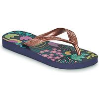 Παπούτσια Κορίτσι Σαγιονάρες Havaianas KIDS FLORES Marine / Gold