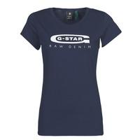 Υφασμάτινα Γυναίκα T-shirt με κοντά μανίκια G-Star Raw GRAPHIC 20 SLIM Μπλέ