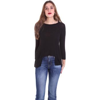 Υφασμάτινα Γυναίκα Μπλουζάκια με μακριά μανίκια Dixie T340M028 Μαύρος