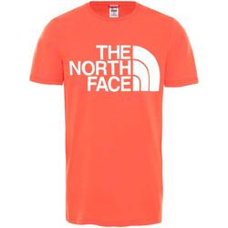 Υφασμάτινα Άνδρας T-shirt με κοντά μανίκια The North Face NF0A4M7X το κόκκινο