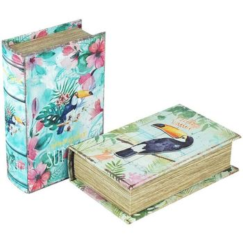Σπίτι Κουτιά αποθήκευσης Signes Grimalt Βιβλίο Κουτί Set By Sigris 2 Μονάδες Multicolor