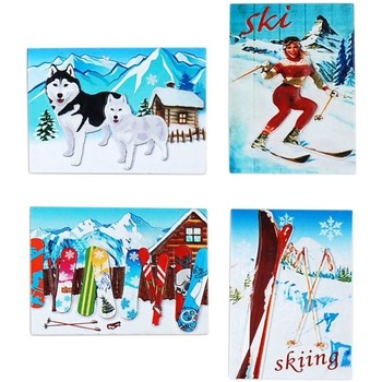 Σπίτι Χριστουγεννιάτικα διακοσμητικά Signes Grimalt Μαγνητικό Χιόνι Set 4 U Multicolor