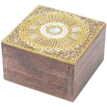 Σπίτι Κουτιά αποθήκευσης Signes Grimalt Πλατεία Κοσμήματα Box Dorado