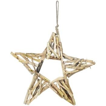 Σπίτι Χριστουγεννιάτικα διακοσμητικά Signes Grimalt Αστέρι Με Ξύλο Dorado