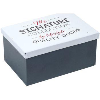 Σπίτι Κουτιά αποθήκευσης Signes Grimalt Μεταλλικό Κουτί Multicolor