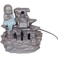 Σπίτι Αγαλματίδια και  Signes Grimalt Πηγή Βούδα Κεραμικά Gris