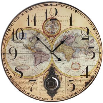 Σπίτι Ρολόγια τοίχου Signes Grimalt Ρολόγια Χάρτη Beige