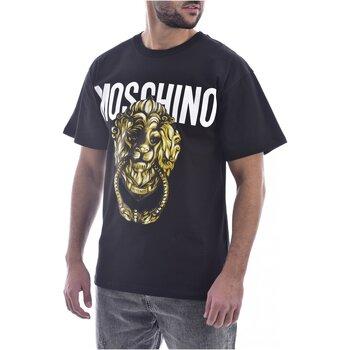 Υφασμάτινα Άνδρας T-shirt με κοντά μανίκια Moschino ZA0716 Black