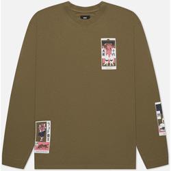 Υφασμάτινα Άνδρας T-shirts & Μπλούζες Edwin T-shirt manches longues  Tarot Deck II vert olive