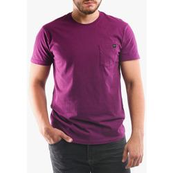Υφασμάτινα Άνδρας T-shirts & Μπλούζες Edwin T-shirt avec poche violet