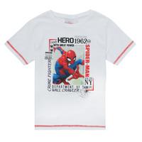 Υφασμάτινα Αγόρι T-shirt με κοντά μανίκια TEAM HEROES  SPIDERMAN TEE Άσπρο