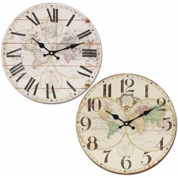 Σπίτι Ρολόγια τοίχου Signes Grimalt Παγκόσμιο Ρολόι 34Cm Set 2 U Blanco