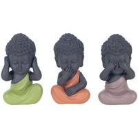 Σπίτι Αγαλματίδια και  Signes Grimalt Ο Βούδας Δεν Βλέπει By Sigris Ακούει By Sigris Μιλά Set 3U Multicolor