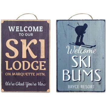Σπίτι Πίνακες Signes Grimalt Wall Plate Σκι 2, Σεπτεμβρίου U Multicolor