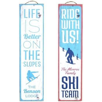 Σπίτι Πίνακες Signes Grimalt Wall Plate Σκι 2, Σεπτεμβρίου U Azul