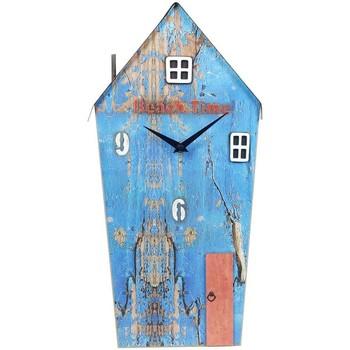 Σπίτι Ρολόγια τοίχου Signes Grimalt Ανακυκλωμένο Ρολόι Ξύλινου Σπιτιού Azul