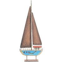 Σπίτι Αγαλματίδια και  Signes Grimalt Ανακυκλωμένο Ιστιοφόρο Από Ξύλο Azul