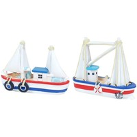 Σπίτι Αγαλματίδια και  Signes Grimalt Ρητίνη 2 Βάρκα Κατάρτι 2U Multicolor