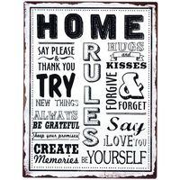 Σπίτι Πίνακες Signes Grimalt Home Plate Wall Multicolor